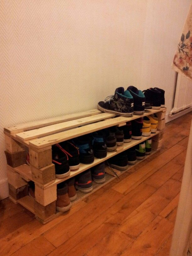 Meuble Chaussure Palette étagère Chaussures En Palettes