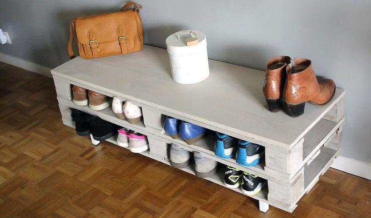 meuble chaussure palette diy un meuble en palette tr s pratique id al comme rangement. Black Bedroom Furniture Sets. Home Design Ideas
