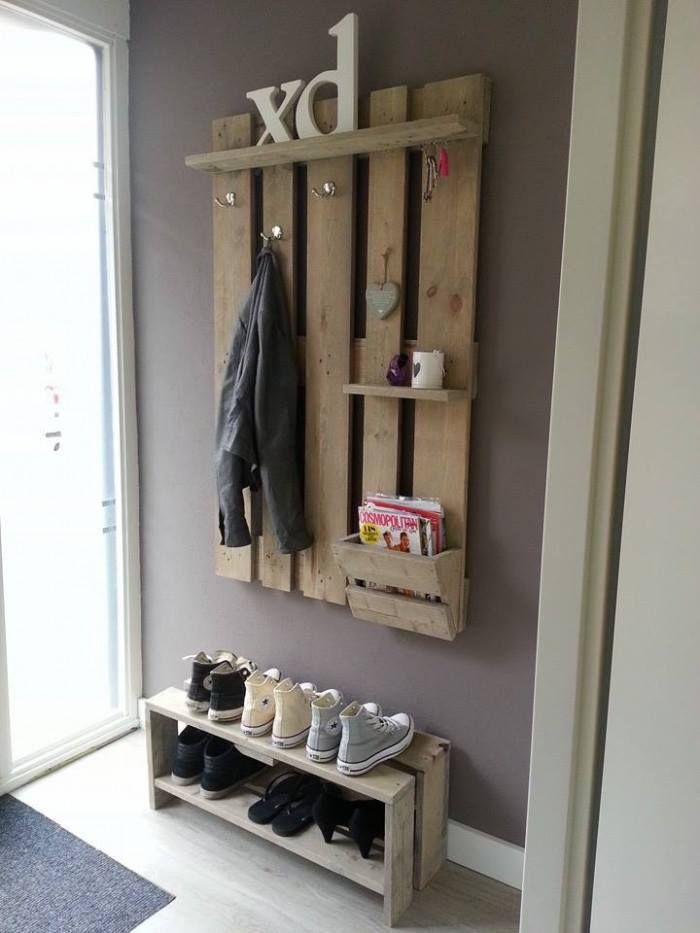 meuble chaussure palette cr ation en bois de palette n 2. Black Bedroom Furniture Sets. Home Design Ideas
