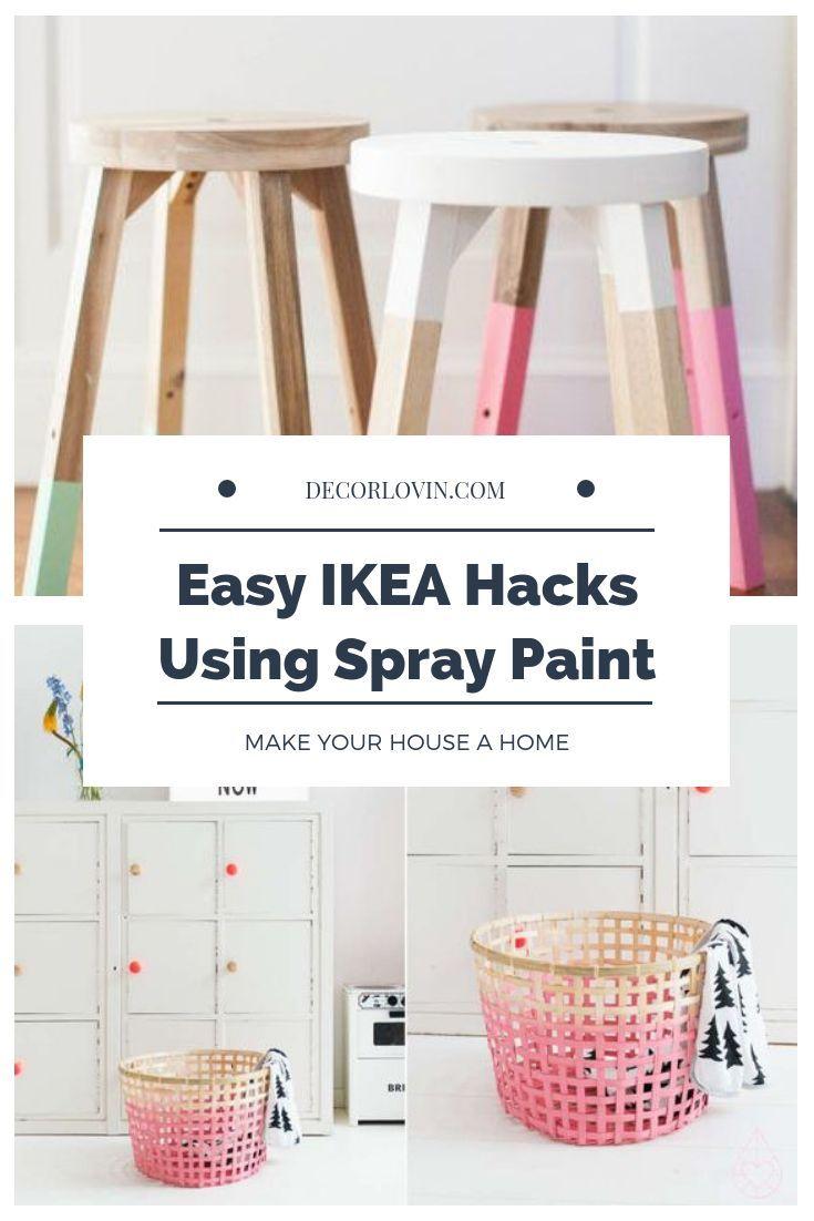 DIY Meubles : Easy IKEA Hacks utilisant de la peinture en aérosol - Decoro 360 - Votre ...