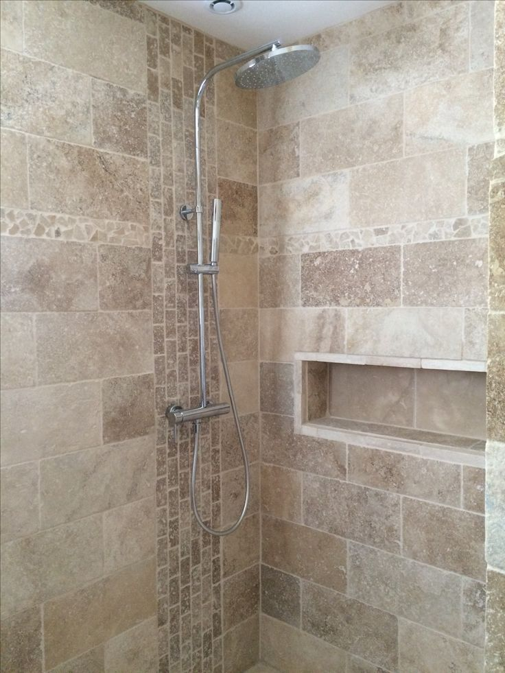 Agencement Cuisine : Salle de bain travertin douche ...