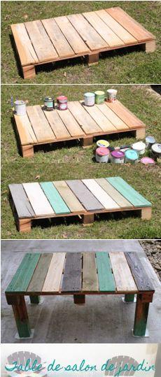 Lits en palette : Vive la récup! La table basse de jardin en ...