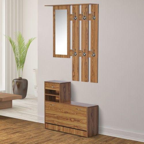 meuble chaussure palette homcom ensemble de meubles d. Black Bedroom Furniture Sets. Home Design Ideas