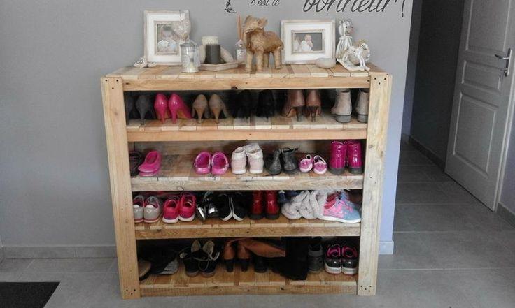 meuble chaussure palette meuble chaussures en palettes. Black Bedroom Furniture Sets. Home Design Ideas