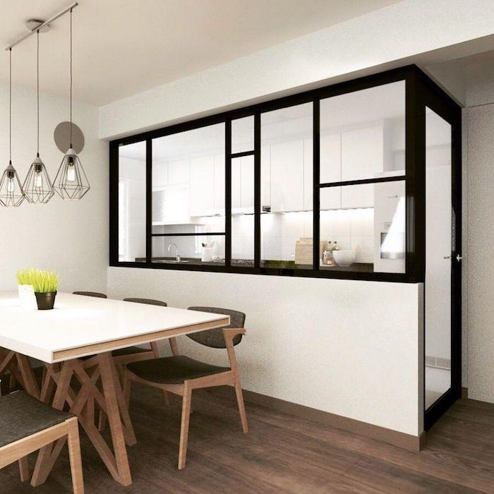 Verrière Cuisine : Séparation cuisine salon – coulissez une porte ...