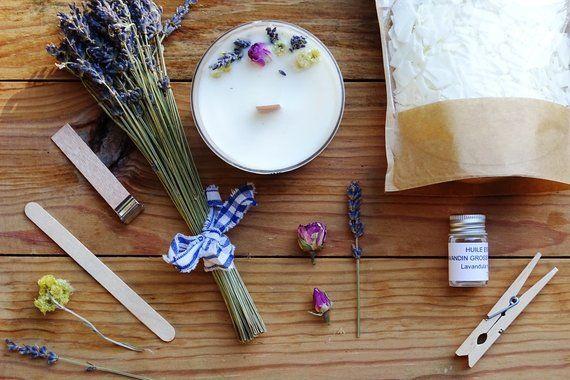 bougie naturelle kit of creating candle home made diy. Black Bedroom Furniture Sets. Home Design Ideas