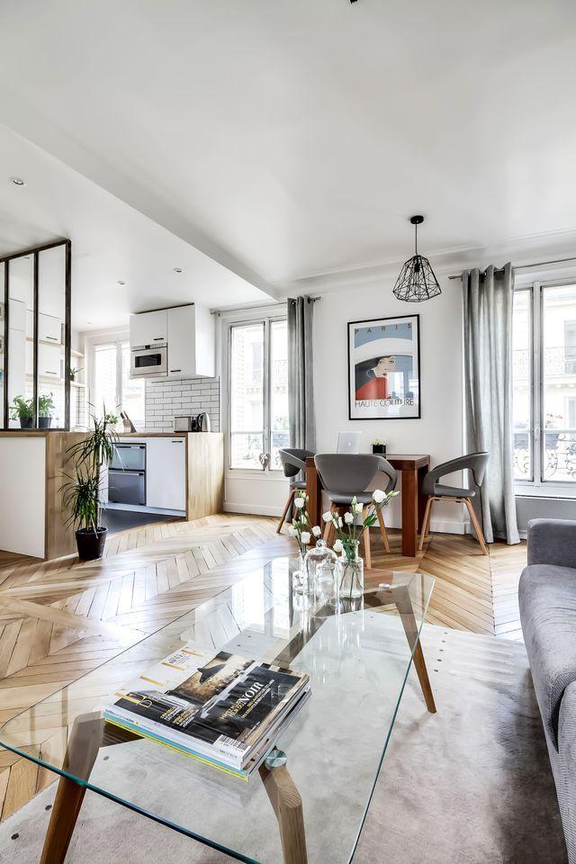 Verri re cuisine appartement paris 8 un 38 m2 refait Formation decoration interieur paris