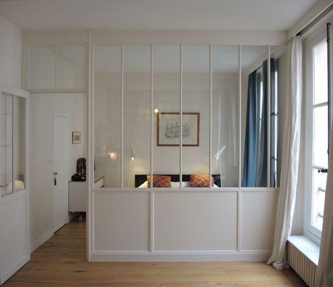 Verrière Cuisine : séparation par une verrière entre chambre et ...