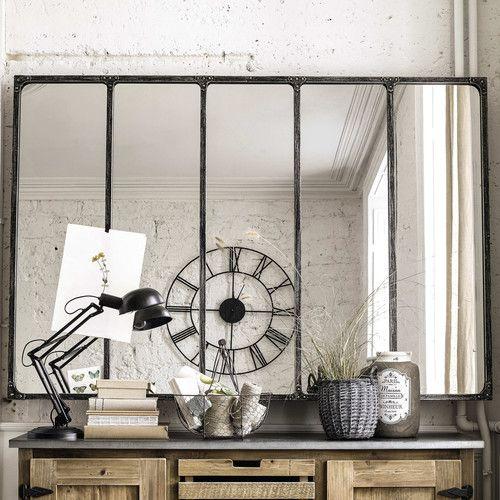 verri u00e8re cuisine   miroir indus en m u00e9tal 180x124 - decoro 360