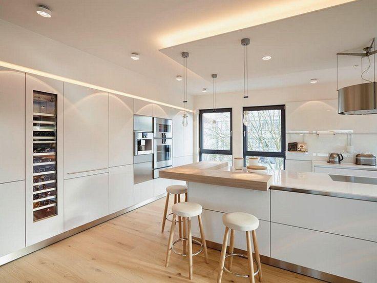 Verrière Cuisine : Meubles blanc et bois et salle de bain ...