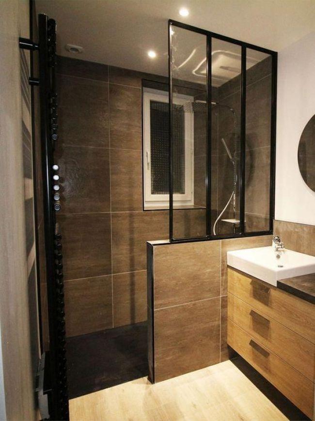 Idées Décoration Cuisine : Salle de bain tendance avec verrière et ...