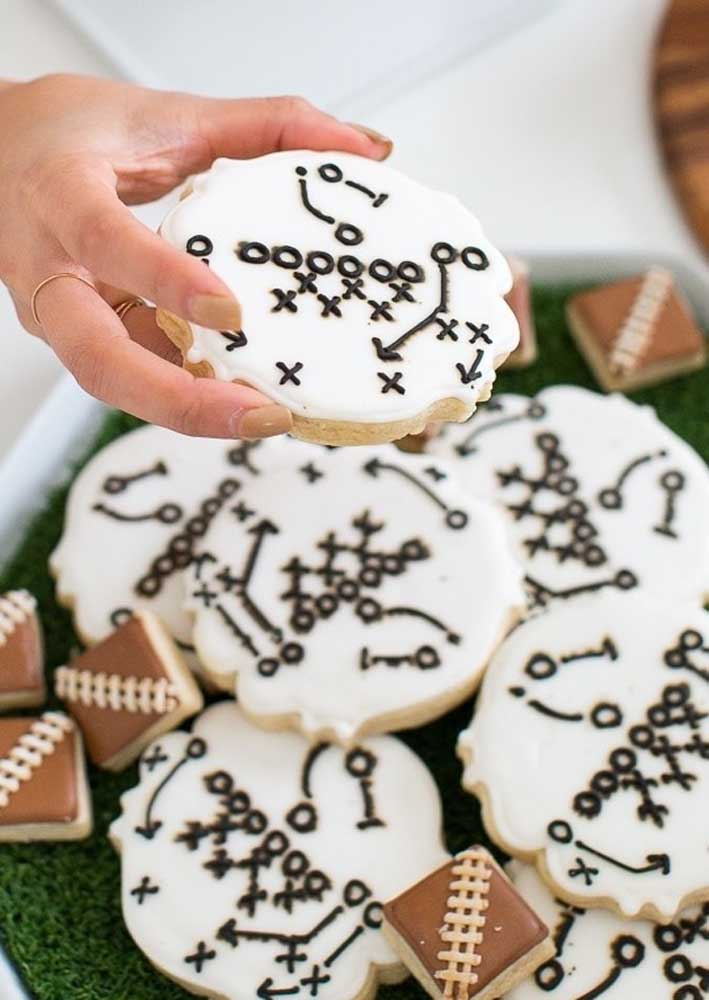 Game strategies designed on cookies. Only at a Super Bowl Party for you to see this!