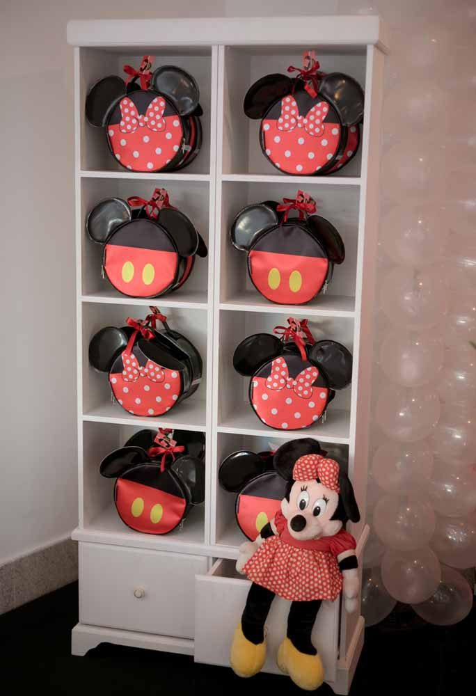 Look at the luxury that these Minnie themed bags were