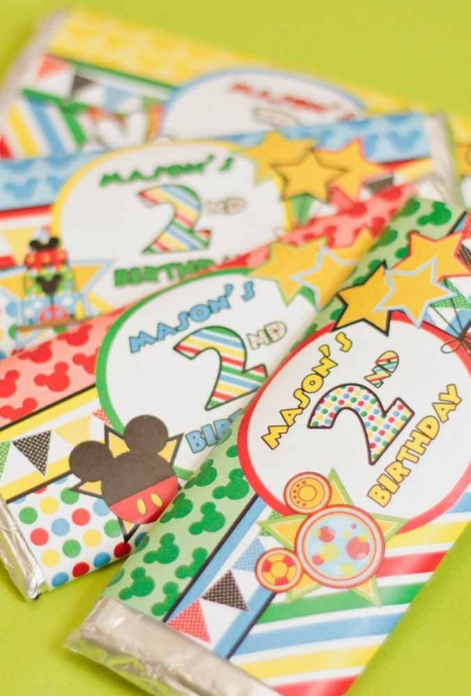 Personalized Mickey themed packages