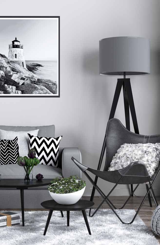 Hygge decoration in black and white