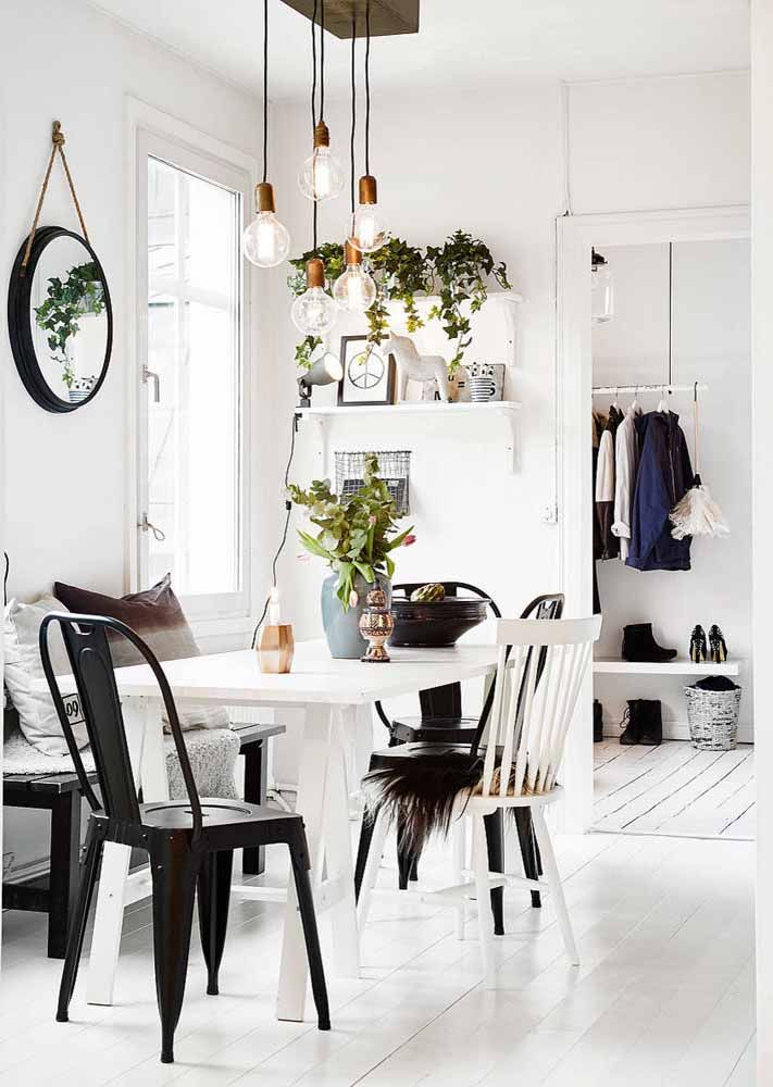 Scandinavian style black and white making its presence felt in the decor hygge