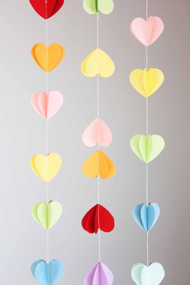 3D hearts curtain: no matter which way you look, you will always have a perfect heart looking at you too