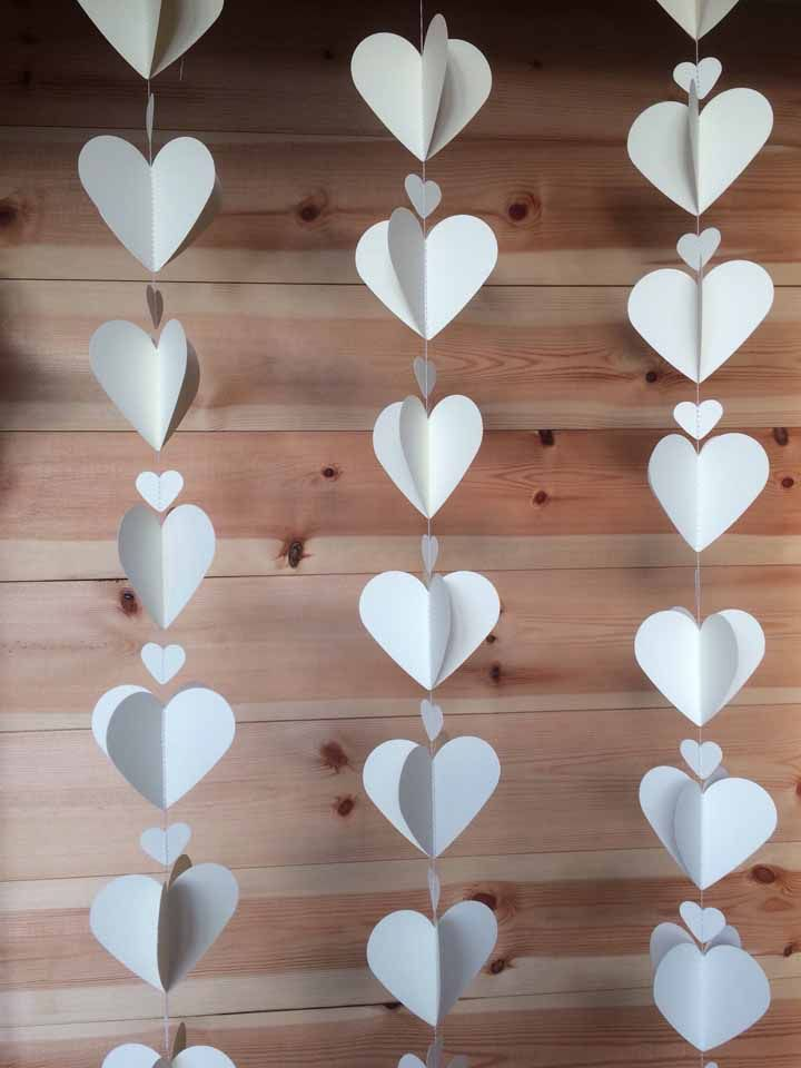 White hearts: can it be simpler and more elegant than that?