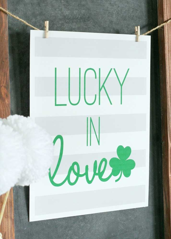 The wish here is luck in love!