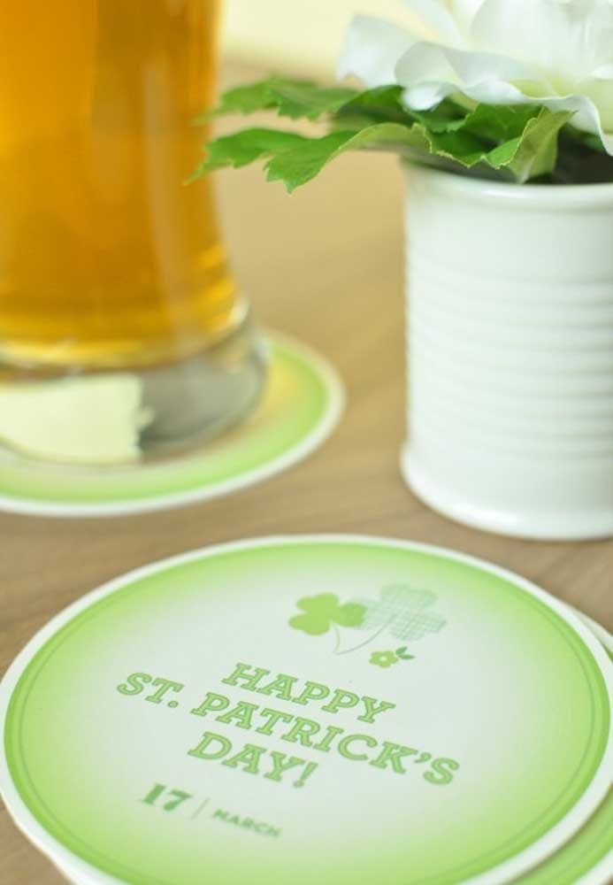 Personalized coaster for St. Patrick's Day