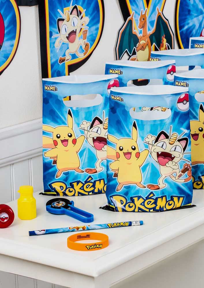 Personalized themed bags are always perfect as a pokemon souvenir.