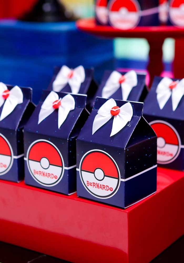 Personalized boxes are perfect to deliver as a pokemon souvenir.