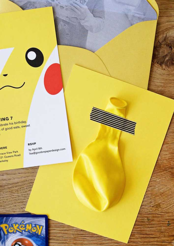 Prepare a surprise for the guests when delivering the pokemon invitation.