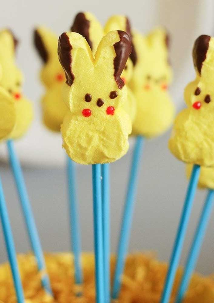Toothpick biscuits are even more tasty in the shape of pikachu.