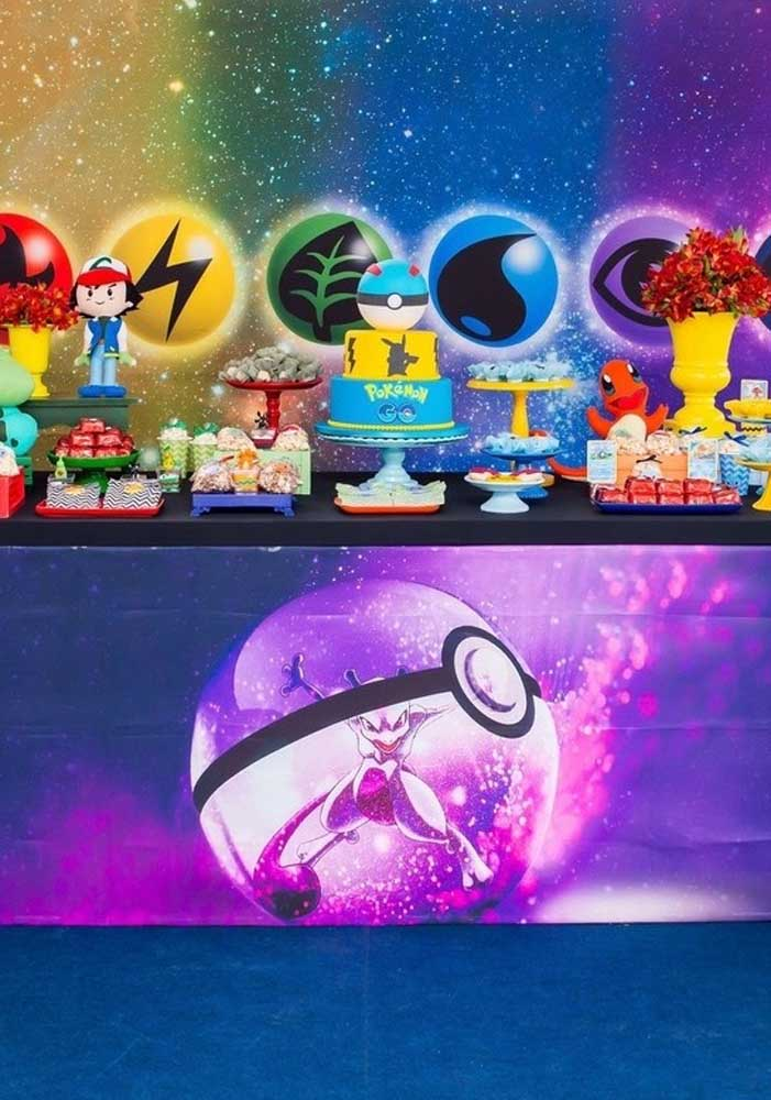 Wow!! What a pokemon cake and modern decor to celebrate the birthday with the Pokemon theme.