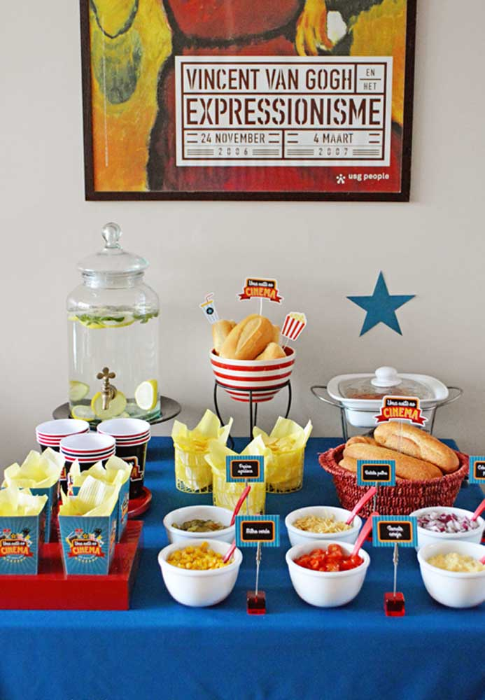Find out how to make the hot dog night very neat.