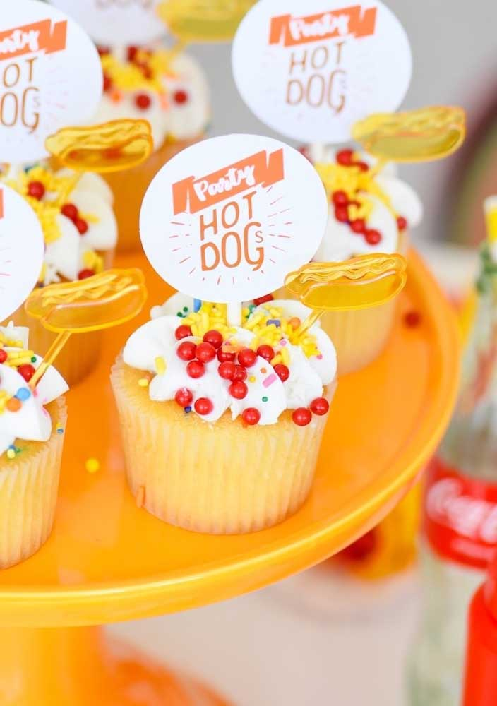 What do you think about serving a cupcake on a hot dog night?