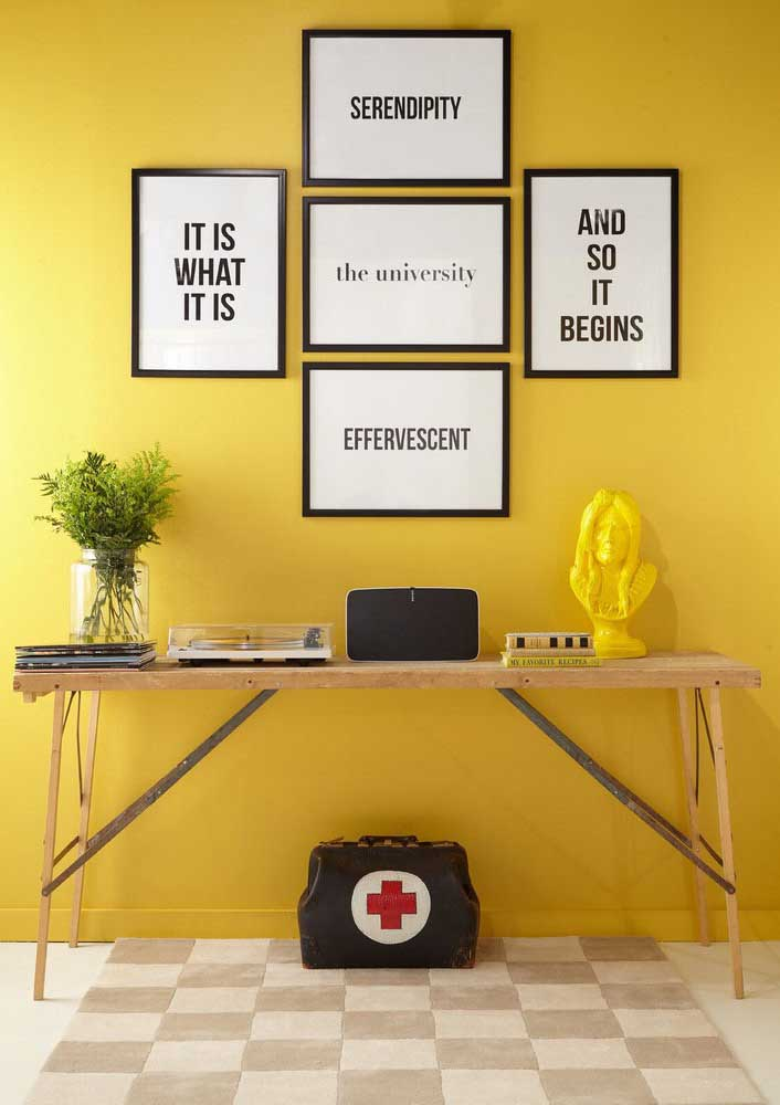 Don't want to spend too much? Invest only in a yellow wall