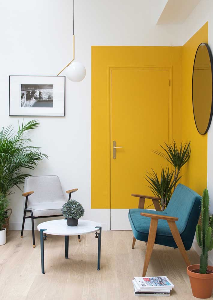 Do you want to enhance a specific part of your room? Paint the area yellow
