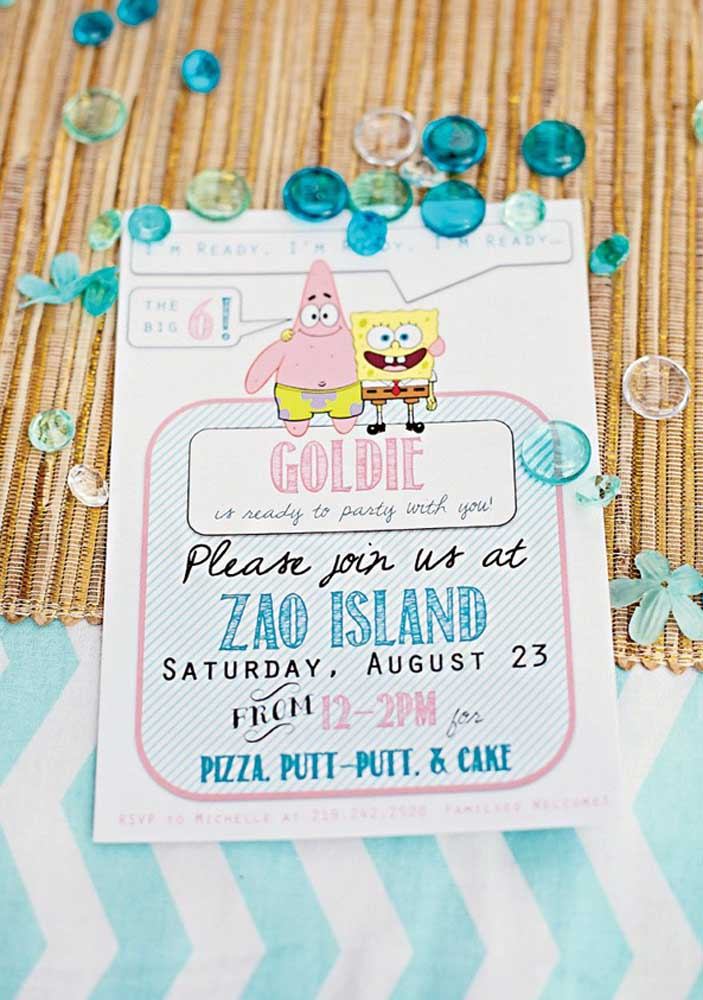 SpongeBob and Patrick invite you to the best party of recent times!