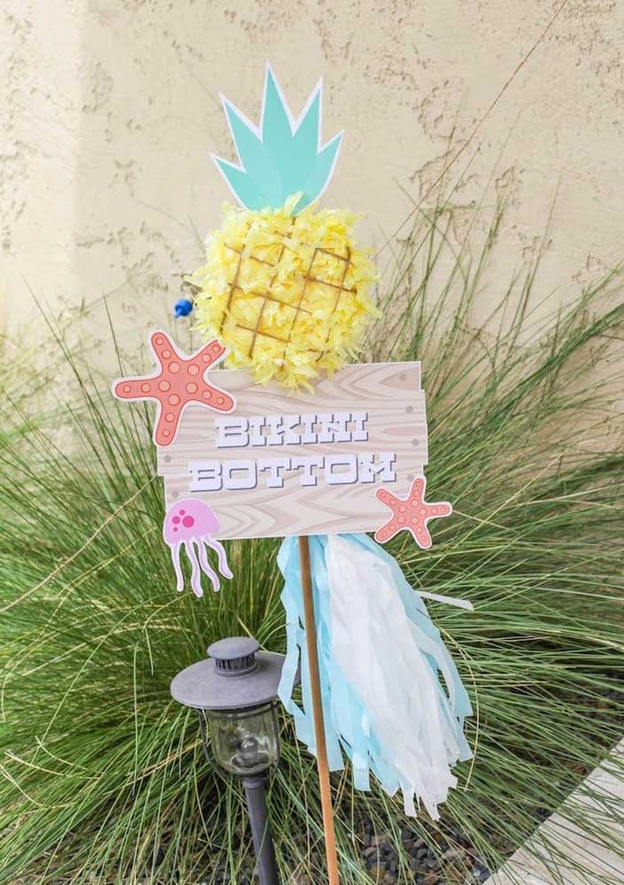And for the party entrance, take care of the ornaments that refer to the seabed and the city of Bikini Bottom