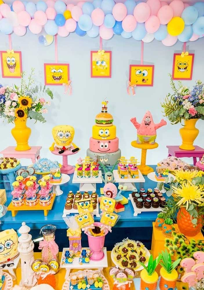 SpongeBob and his gang stormed the party. Wherever you look, they appear!