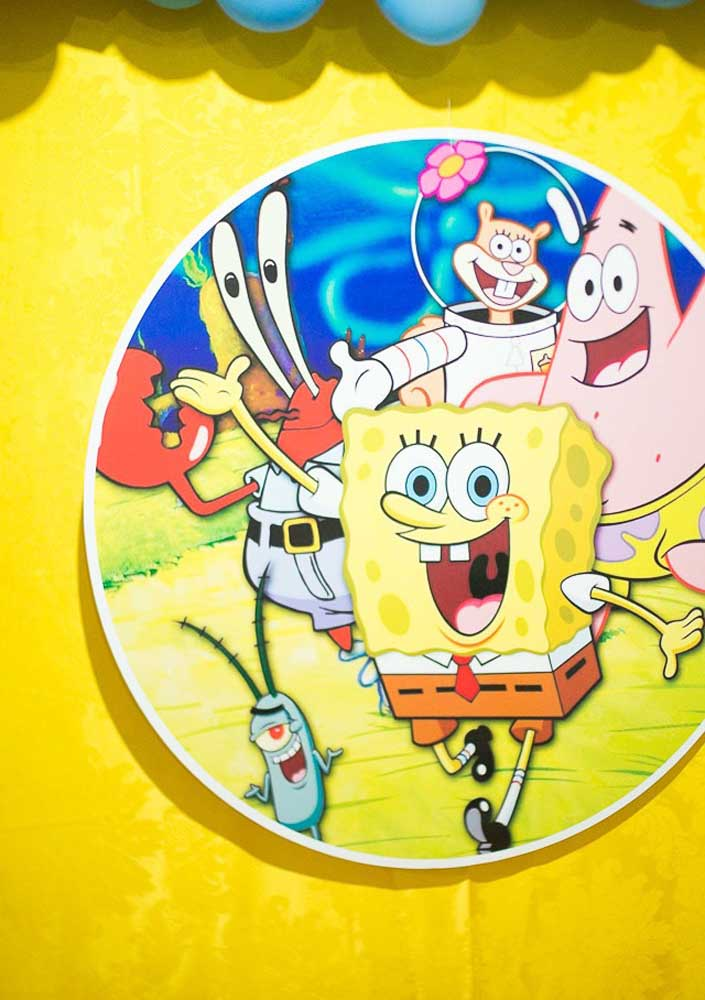The SpongeBob gang colors and entertains the party