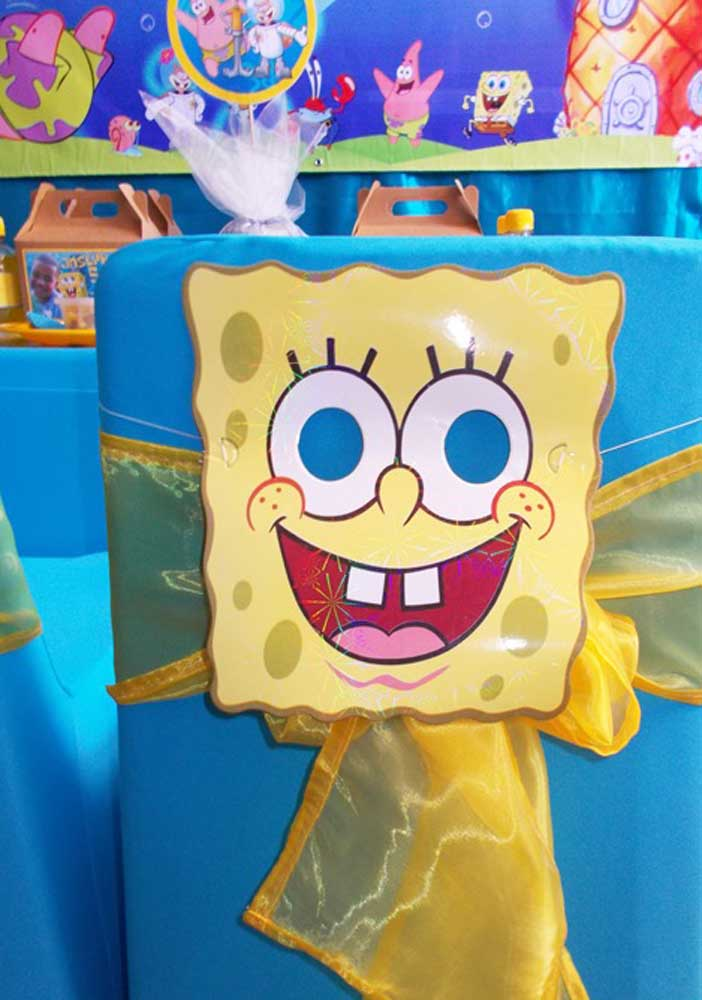 One SpongeBob for each party chair