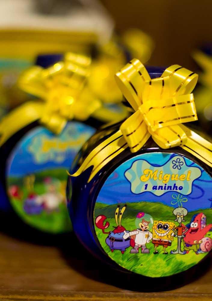 SpongeBob 1 year anniversary. For souvenir, a little candy cane