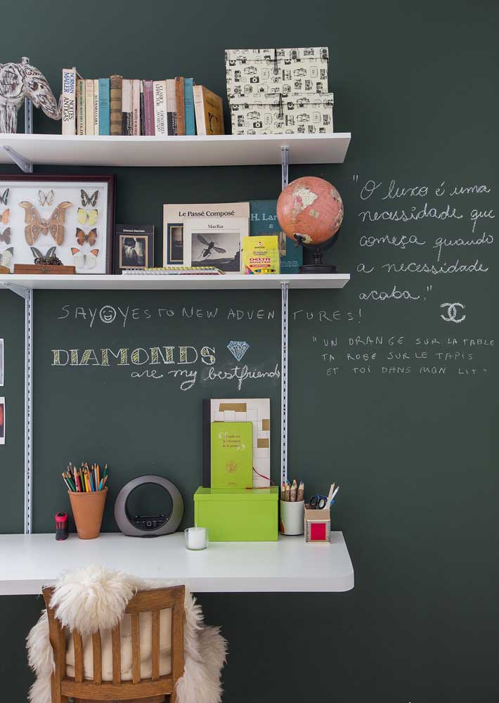 Blackboard wall to make all your work notes