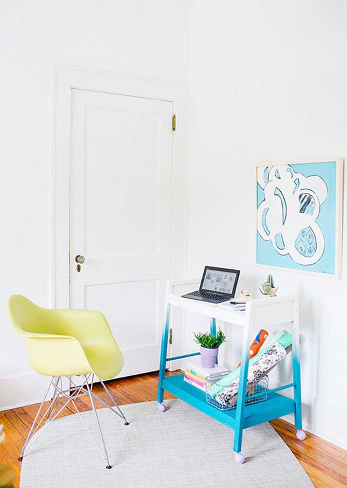 What do you think of turning the tea cart into a mobile office?