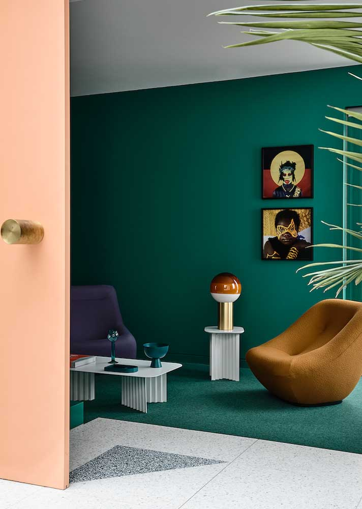 Bluish green room for a contemporary and stylish decoration