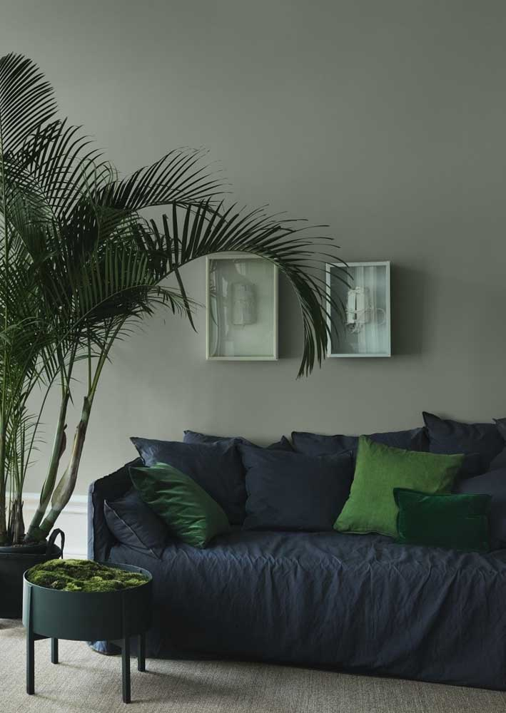 Green, blue and gray room: modern, elegant and sober combination