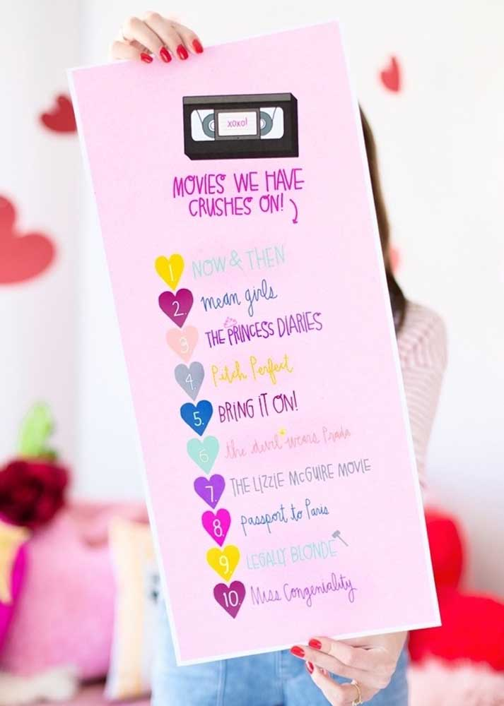 Provide a super cute list to display the films for voting