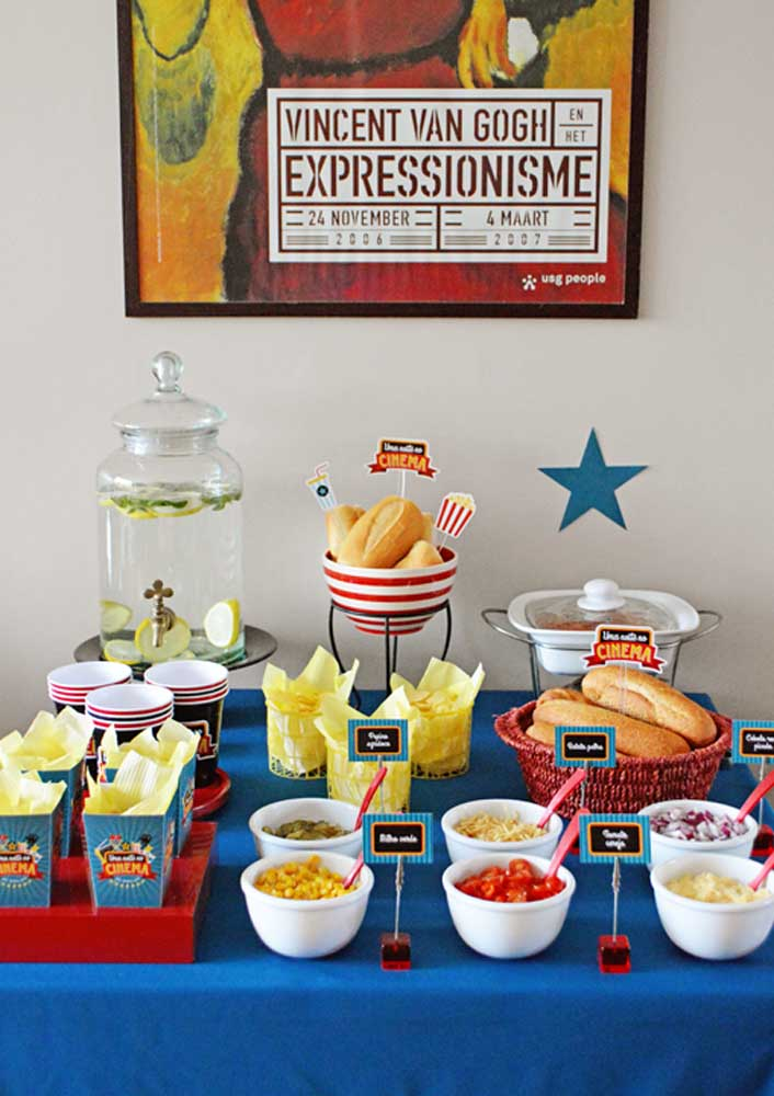 How about mixing movie night with hot dog night?