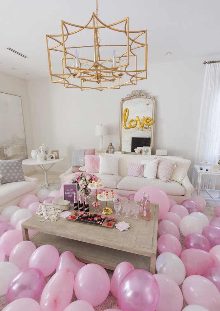 Balloons are never too much and will fit with any decor