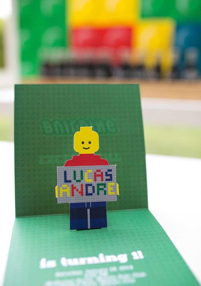 3D Lego Party Invitation
