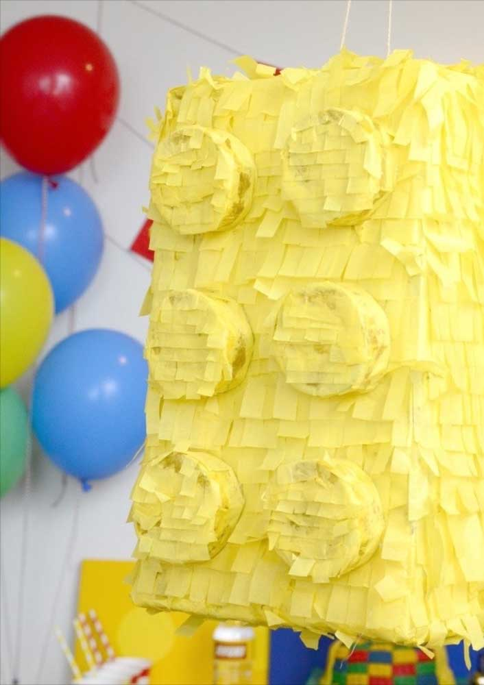 Lego pinata. What is in there? Candy or riding toys?