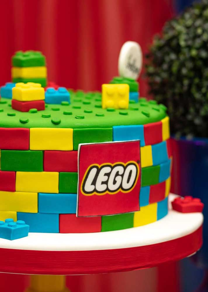 Lego cake made with American paste