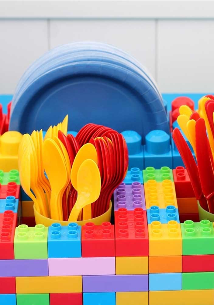 How about a cutlery holder made with Lego?